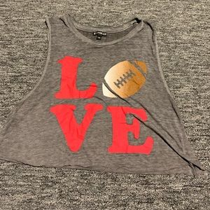 Cropped game day tank
